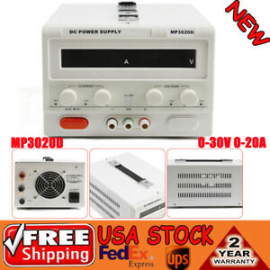 New Mp3020d Triple output 0 30v 0 20a Dc Power Supply Regulated Variable Led