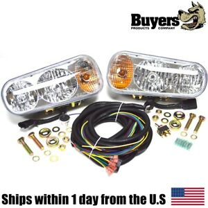 Genuine Oem Buyers Products 1311100 Universal Halogen Snow Plow Light Kit 12 Vdc