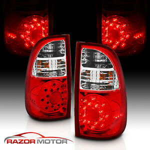 For 2005 2006 Toyota Tundra Pickup Led Red Clear Rear Brake Tail Lights Pair