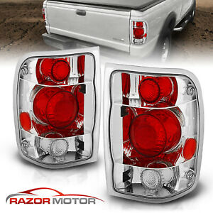 1998 1999 2000 Ford Ranger Factory Style Chrome Rear Brake Tail Lights Pair