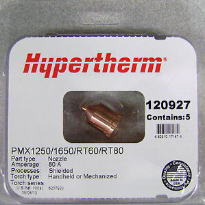 Hypertherm Genuine Powermax 1250 1650 Nozzles 120927 Made In Usa