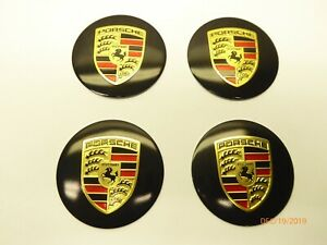 For Porsche Wheel Center Hub Cap Badge Sticker Black 56mm