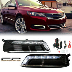 For 2014 2020 Chevy Impala Clear Factory Style Led Daytime Running Light Drl Kit