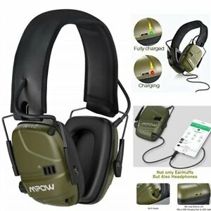 Mpow Electronic Ear Defenders Comfort Impact Shooting Earmuffs Sports Protector