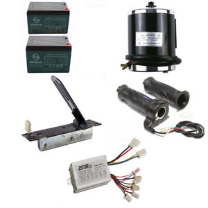 Brushed 24v 500w Electric Motor Speed Controller Throttle W Batteries For Razor