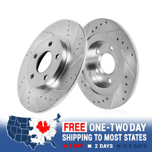 Rear Drilled And Slotted Brake Rotors For Audi A6 Quattro C5