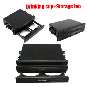 New Universal Car Double Pocket Cup Holder Drinking Center Console Storage Box