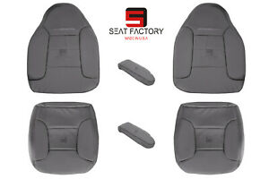 1992 To 1996 Ford Bronco Eddie Bauer Driver Passnger Vinyl Seat Cover Gray