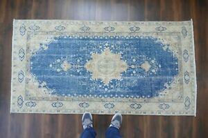 Anatolian Turkish Rug Contemporary Oushak Handwoven Wool Antique Carpet 3 6 X7
