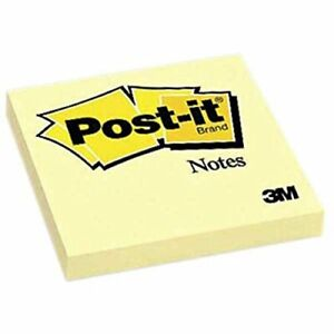 Post it Note Pad 3 In X 3 In Yellow