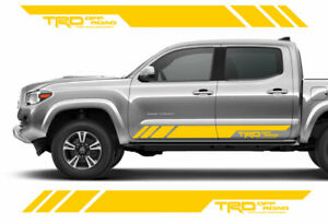 Trd Off Road Doors Vinyl Decals Sticker For Toyota Tacoma Tundra Truck Set Of 2