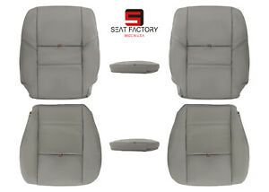 2001 2004 Toyota Sequoia Limited Sr5 Driver Passenger Leather Seat Cover Gray