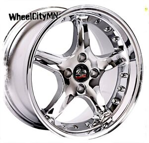 17 X8 Inch Chrome Ford Mustang Cobra R Oe Replica Wheels 1979 1992 4x108 4x4 25