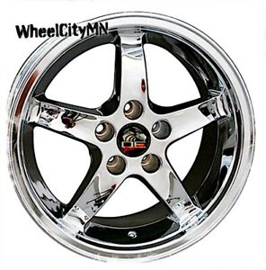 17 X9 Inch Chrome Ford Mustang Cobra R Oe Replica Wheels 1994 2004 5x4 5 24