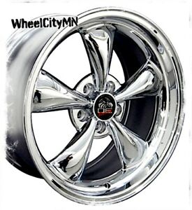 18 Inch Staggered Chrome Ford Mustang Bullet Oe Replica Rims 18x9 18x10 5x4 5