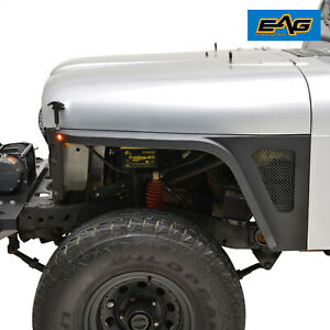 Eag Front Fender Flare With Led Eagle Lights Fit 1976 1986 Jeep Wrangler Cj7