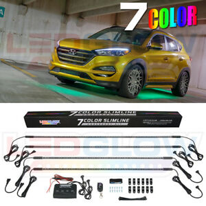 7 Color Led Neon Underbody Interior Lights Package