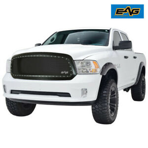 Eag Front Mesh Replacement Grille Stainless Steel Fit 2013 2018 Dodge Ram 1500
