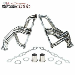 Stainless Steel Racing Exhaust Long Tube Header For Chevy Sbc V8 77 84