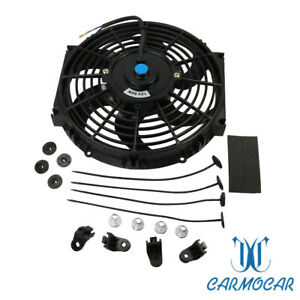 Universal 12v 80w 10 Inch 1750cfm Electric Radiator Slim Cooling Fan Push Pull
