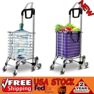 35l Foldable Trolley Shopping Cart Aluminum Stainless Steel Frame Climbing easy