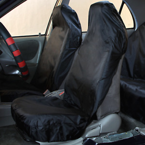 Waterproof Car Seat Covers Black 2 Front Seats