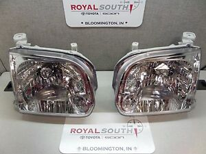 Toyota Tundra Sequoia Left Right Front Headlights Lamps Genuine Oem Oe