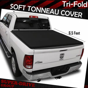 For 2002 2008 Dodge Ram Soft Tonneau Cover Lock Tri fold Style 6 5ft Short Bed