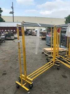Commercial Straight Racks Rolling Clothing Storage Used Store Fixtures Salesman
