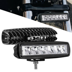 2x 6 In 60w Cree Off Road Led Work Light Bar Flood Spot Combo Pods Driving Truck