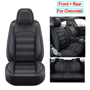 Universal Pu Leather Car Seat Cover Set Fit For Chevrolet Equinox Cruze Impala