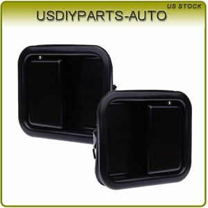 Black Door Handle Exterior Front Left Driver Side Pair For 97 06 Jeep Wrangler