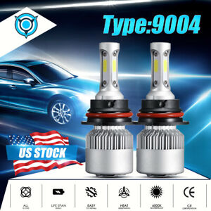 For Dodge Ram 1500 2500 3500 1994 2001 9004 Hb1 Led Headlight Bulbs 6000k White