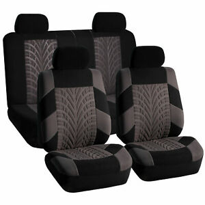 Car Seat Covers For Sedan Suv Truck Set Split Bench Zippers Gray Black