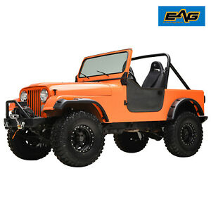 Eag Fender Flares Pocket Rivet Abs Wide Body Fit 59 86 Jeep Wrangler Cj5 6 7