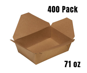 400 Pack 71oz Disposable Paper Take Out Food Containers Kraft To Go Container