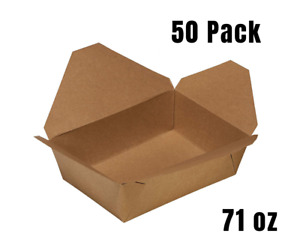 50 Pack 71oz Disposable Paper Take Out Food Containers Kraft To Go Container