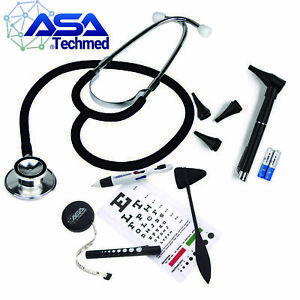 Stethoscope Set With Eye Chart taylor Hammer Tape Measure Led Penlight otoscope