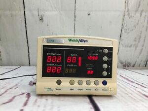 Welch Allyn 52000 Vital Signs Patient Monitor With Power Supply Yellowed