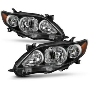 For 2011 2013 Toyota Corolla Black Headlights Lamps Aftermarket Left Right New