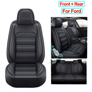 Pu Leather Car Seat Cover Universal Accessories Fit For Ford Escape Fusion