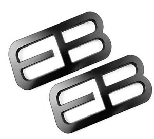 Factotum Pair 2 Black Fender Emblem Fits 15 21 Ford Mustang Ecoboost Eb Badge