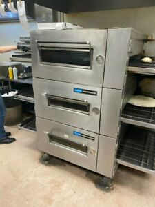 Lincoln Impinger 1600 Triple Stack Gasconveyor Pizza Oven 15 000 Or B o
