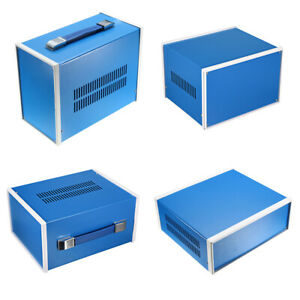 All Sizes Of Electronic Metal Diy Power Junction Box Enclosure Project Case Blue