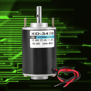 Xd 3420 12 24v 30w Permanent Magnet High Speed Dc Motor Cw ccw For Generator