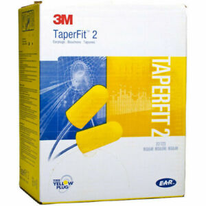 case Of 200 3m Taperfit 2 Earplugs Regular Size With Cord