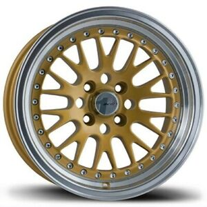 Set Of 4 Avid 1 Wheels Av12 15x8 4x100 25 Gold