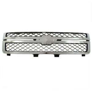11 14 Chevy Silverado 2500hd 3500hd Pickup Truck Front Grill Grille Gray chrome