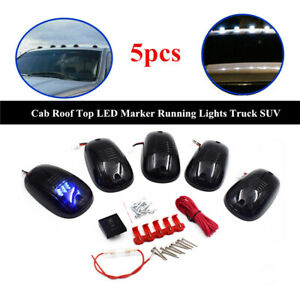 5xcab Roof Top Led Marker Running Lights Universal Truck Suv Fit For Jeep Pickup