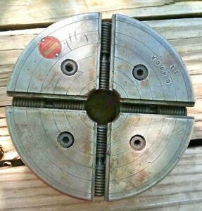 2 1 4 8 Backing Plate With Westcott 6 4 Jaw Lathe Chuck Southbend Metal Lathe